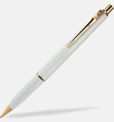 Vit stiftpenna Ballografpennor med eget tryck