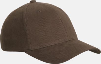 Mörkbrun Flexfitkeps med egen brodyr
