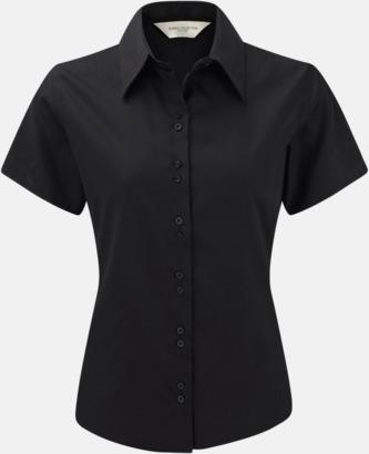Svart (kortärmad) Strykfri damskjorta