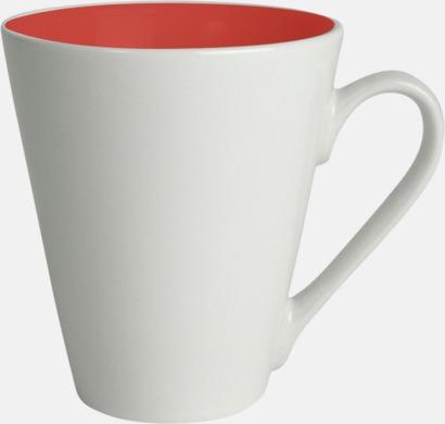 Röd / Vit Kaffemuggar med färgad insida