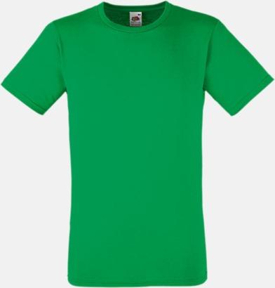 Kelly Green Tajtare reklamt-shirt med figurnära passform