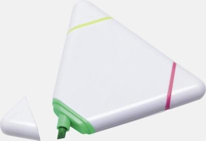 Triangelformade överstrykningspennor med reklamtryck