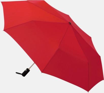Röd Kompaktparaplyer med automatisk uppfällning