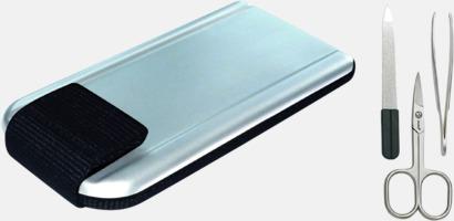Silver/svart Proffsigt manikyrset med tryck