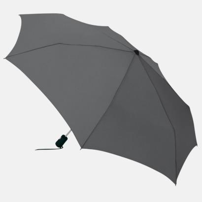 Grå Basildon Kompakt - Paraplyer Med tryck