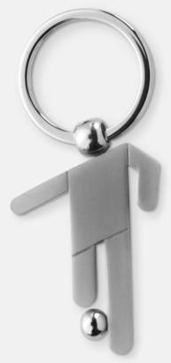 Silver Sportig nyckelring med reklamtryck