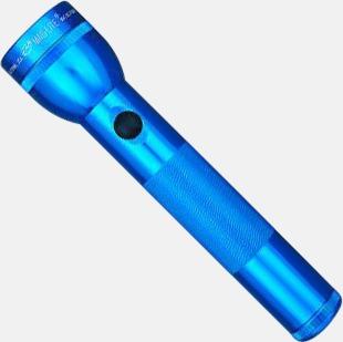 Blå Maglite Standard 2D med gravyr