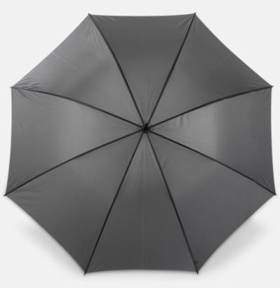 Grå Paraplyer med bärrem - med reklamtryck