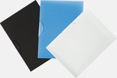 Ljusblå Klämmappar med reklamtryck