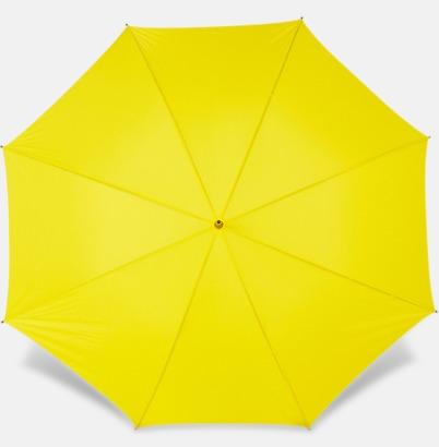 Gul Paraplyer med bärrem - med reklamtryck
