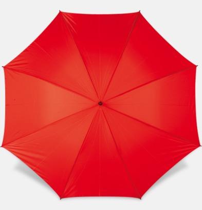 Röd Paraplyer med bärrem - med reklamtryck