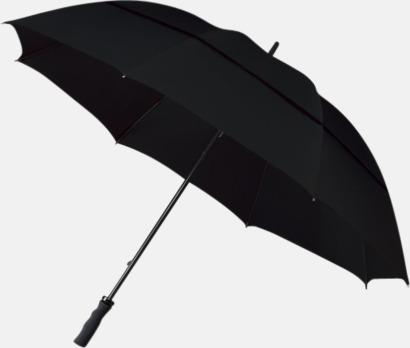 Svart Golfparaplyer med eget tryck