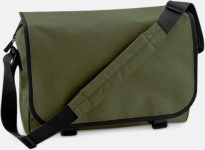 Olivgrön/Svart Billiga väskor med reklamtryck