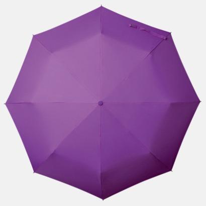 Lila Kompakt Paraplyer - Med tryck