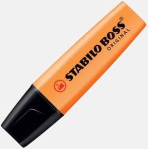 Orange Överstrykningspennor med tryck