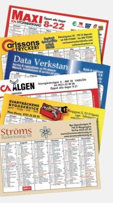 Kalenderkort med eget tryck