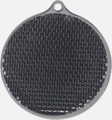 Svart/grå Klassisk reflexbricka med reklamtryck