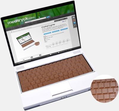 Laptop av choklad med eget tryck