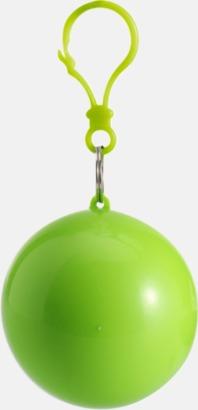 Limegrön Regnponcho i boll med tryck