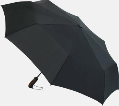 Svart Exklusiva kompaktparaplyer i spceialdesignad förvaringsbox