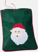Små presentpåsar med julmotiv - med reklamtryck