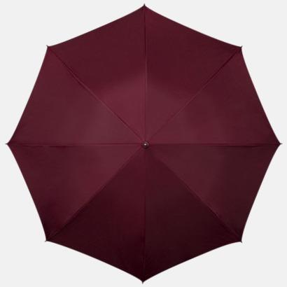 Vinröd Kompakt Paraplyer - Med tryck
