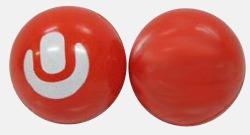 Röd Studsbollar med eget tryck