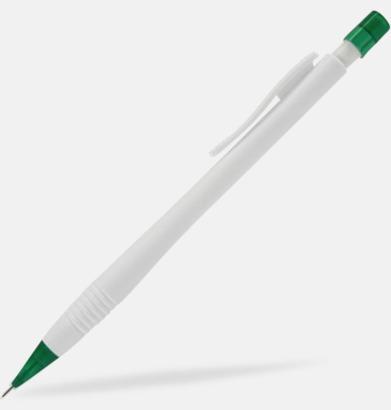 Mörkgrön / Vit Stiftpenna med eget tryck
