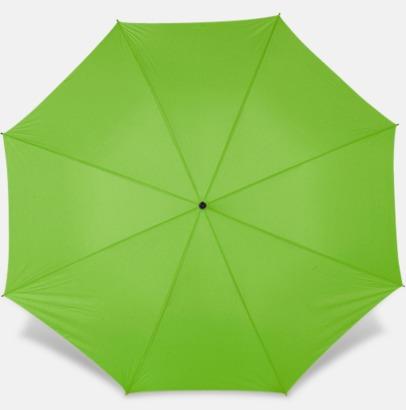 Limegrön Paraplyer med bärrem - med reklamtryck