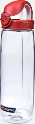 Transparent/Röd Enhandsvänlig vattenflaska