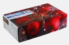 Klassisk låda med rökta korvar