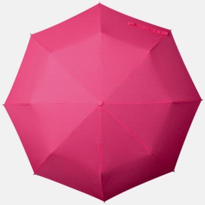 Magenta Kompakt Paraplyer - Med tryck