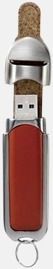 Brun USB-minne med eget reklamtryck