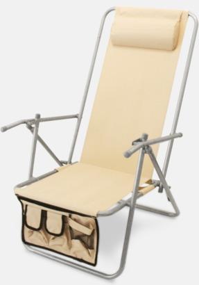 Off-white (de luxe) Lyxig brassestol med kudde och väska