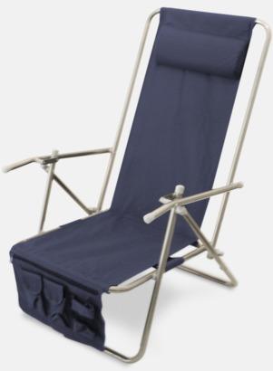 Marinblå (de luxe) Lyxig brassestol med kudde och väska