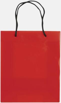 Transparent Röd (medium) Butikskassar i 2 storlekar med reklamtryck