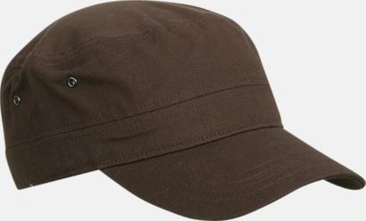 Mörkbrun Cam Army - keps i arméstil