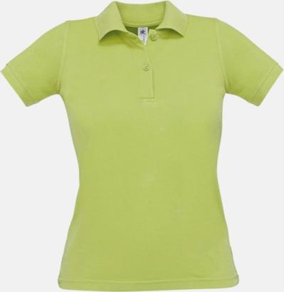 Pistachio Pikétröjor med tryck för dam