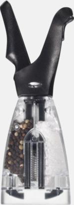 Transparent/svart Salt- och pepparkvarn i ett