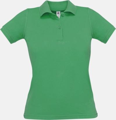 Kelly Green Pikétröjor med tryck för dam