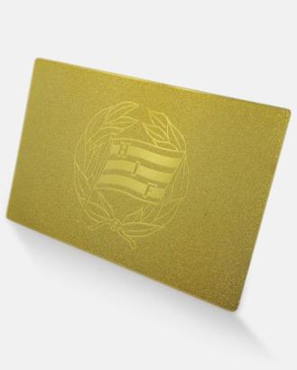 24 karats guld Medlemskort i 24 karat guld