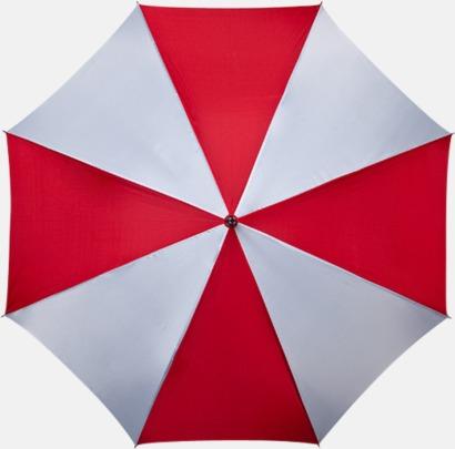 Röd / Vit Golfparaplyer med gummerade handtag