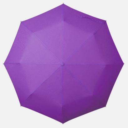 Ljuslila Kompakt Paraplyer - Med tryck
