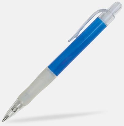 Blå/Transparent Oliver - Billiga pennor med tryck