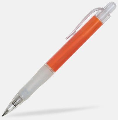 Orange/Transparent Oliver - Billiga pennor med tryck