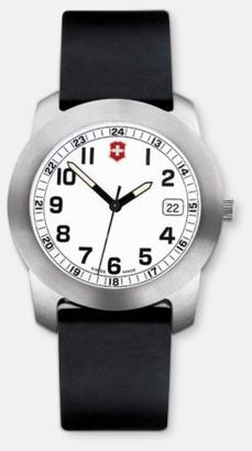 Vit urtavla - svart syntetiskt armband Victorinox Klockor