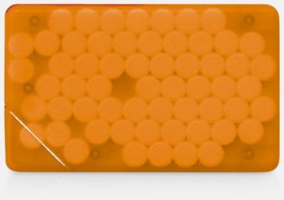 Orange transparent Fresh Card med eget tryck