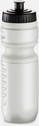 Vit pärlemor Sportflaskor med reklamtryck