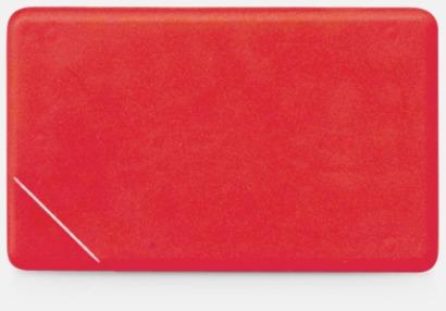 Röd solid Fresh Card med eget tryck