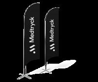 Beachflaggor, eller på svenska, strandflaggor kan tryckas i fullfärg, stora som små.